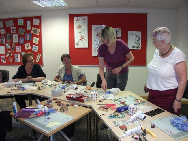 ladies enjoying our last Friendly Plastic Workshop